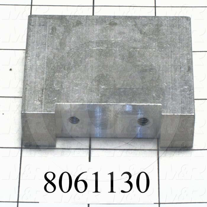 Fabricated Parts, Shock Plate, 2.75 in. Length, 0.75 in. Width, 2.00 in. Height