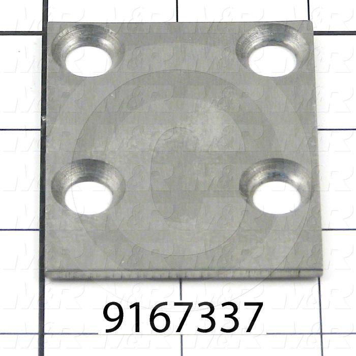 Fabricated Parts, Shock Wear Plate, 2.50 in. Length, 2.00 in. Width, 0.09 in. Thickness