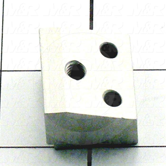 Fabricated Parts, Short Stop Block, 1.13 in. Length, 0.75 in. Width, 1.00 in. Height