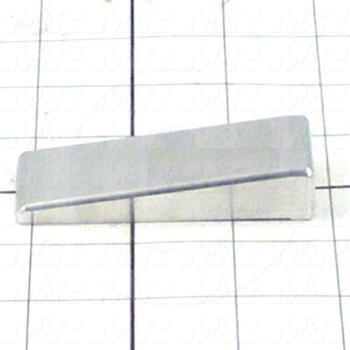 Fabricated Parts, Short Stopper, 3.00 in. Length, 1.13 in. Width, 0.59 in. Height