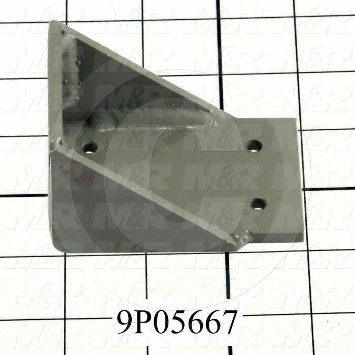 Fabricated Parts, Shutter Cylinder Bracket, 3.25 in. Length, 2.00 in. Width, 2.00 in. Height
