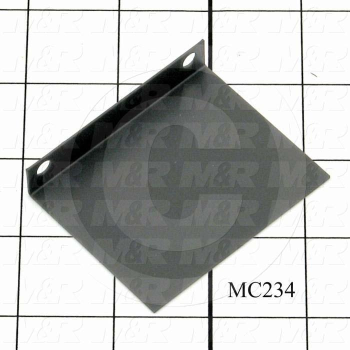 Fabricated Parts, Shutter Motor Baffle, 2.00 in. Length, 2.50 in. Width, 0.47 in. Height, 0.03 in. Thickness, Black Finish