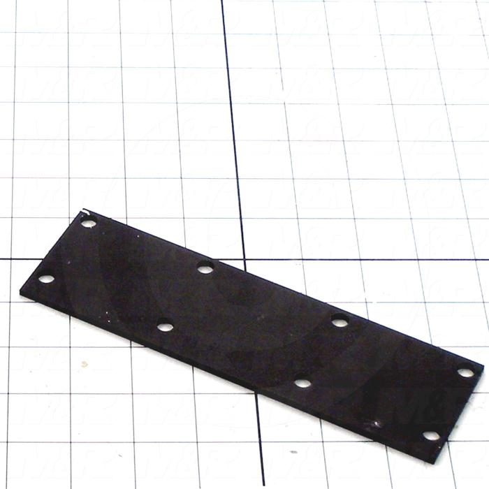 Fabricated Parts, Shutter Reinforcement Plate, 7.50 in. Length, 2.25 in. Width, 11 GA Thickness