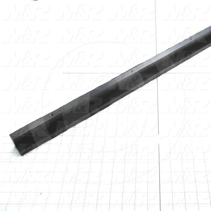 Fabricated Parts, Shutter Slide Support, 36.00 in. Length, 1.63 in. Width, 1.50 in. Height