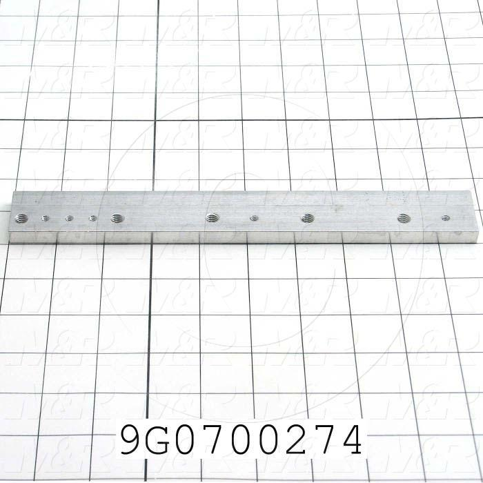 Fabricated Parts, Side Block, 9.77 in. Length, 1.25 in. Width, 0.38 in. Height