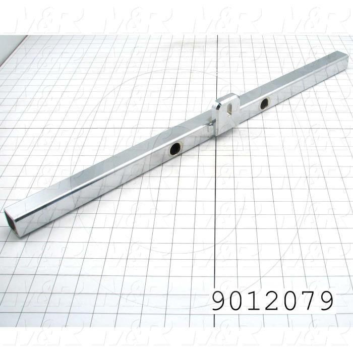 Fabricated Parts, Side Clamp Mounting Tube Weldment, 27.00 in. Length, 2.63 in. Height