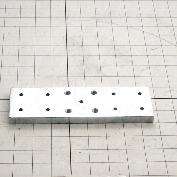 "Fabricated Parts, Side Mounting Plate 8""Long, 8.00 in. Length, 2.50 in. Width, 1/2 in. Thickness, Zinc Plated Finish"