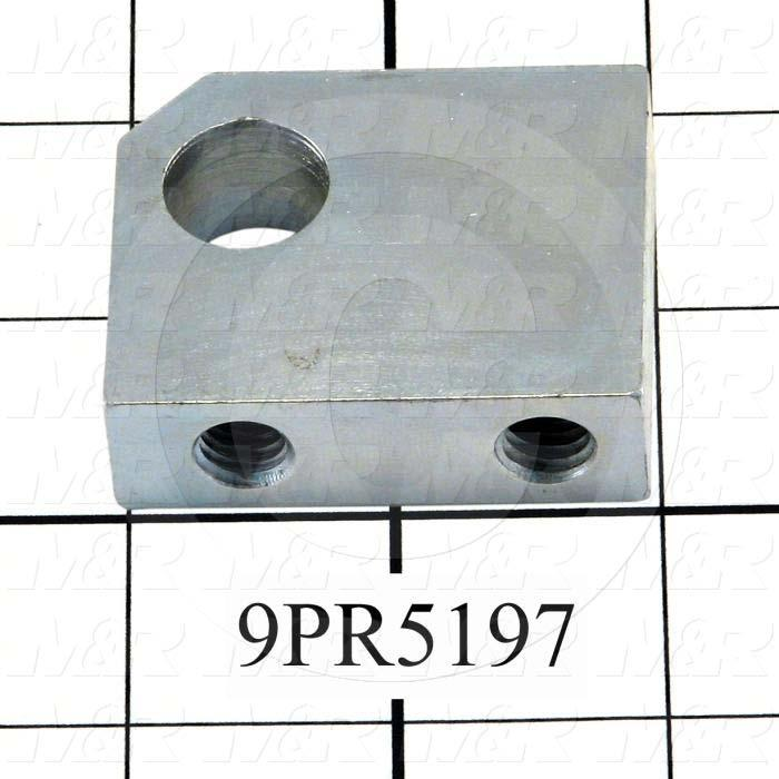 Fabricated Parts, Side Stop Block, 2.00 in. Length, 1.63 in. Width, 0.62 in. Thickness, Zinc Plated Finish