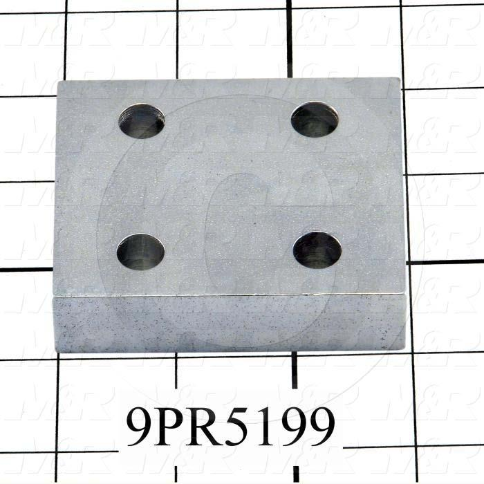 Fabricated Parts, Side stop Plate Spacer, 3.00 in. Length, 2.50 in. Width, 3/4 in. Thickness, Zinc Plated Finish