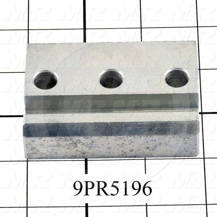 Fabricated Parts, Side Stop Slide, 3.00 in. Length, 2.00 in. Width, 0.75 in. Thickness, Zinc Plated Finish