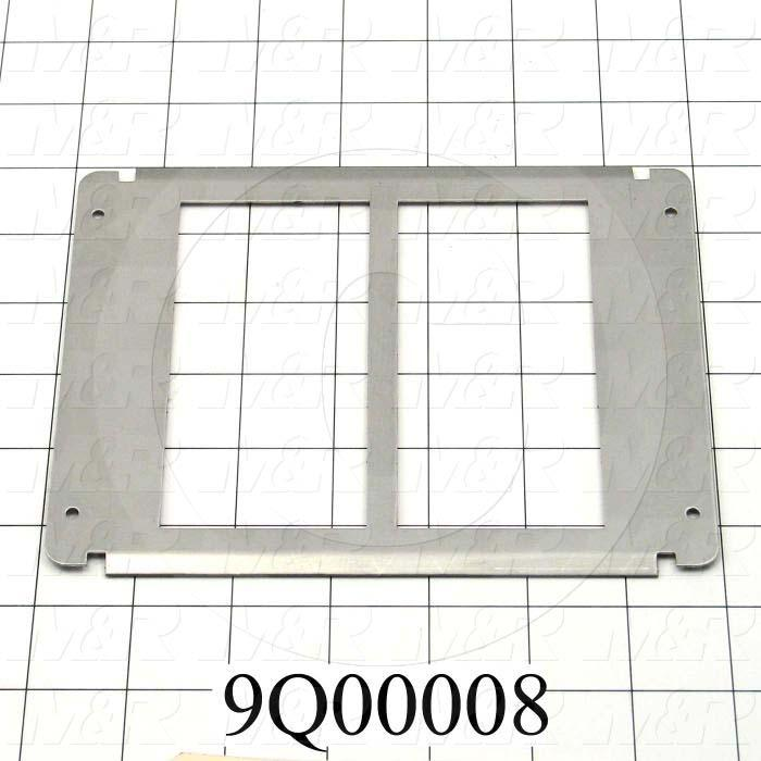 Fabricated Parts, Slide, 5.62 in. Length, 5.44 in. Width, 1.00 in. Height