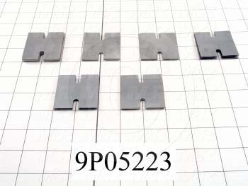 Fabricated Parts, Slide Block Shim Set, 1.94 in. Length, 1.94 in. Width