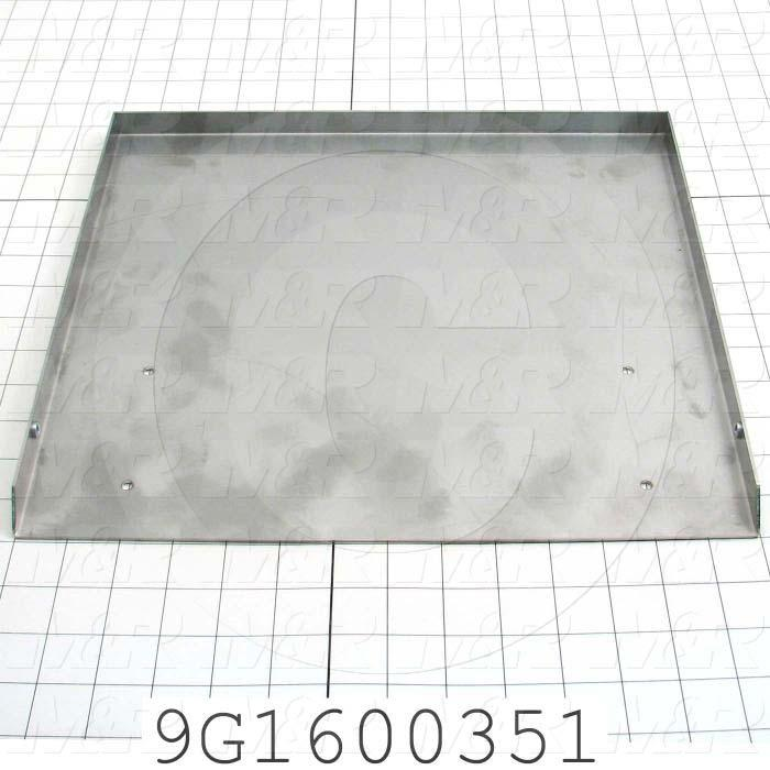 Fabricated Parts, Slide Plate option, 15.34 in. Length, 13.17 in. Width, 0.75 in. Height, 18 GA Thickness