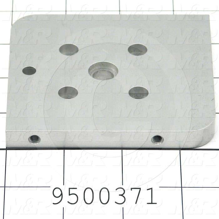 Fabricated Parts, Solenoid Bracket, 3.38 in. Length, 3.64 in. Width, 0.38 in. Thickness, Right Side