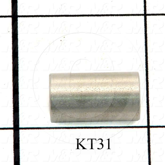 Fabricated Parts, Spacer, 0.69 in. Length, 0.38 in. Diameter, 0.16 in. Thickness, OC50001 Nickel Plating Finish