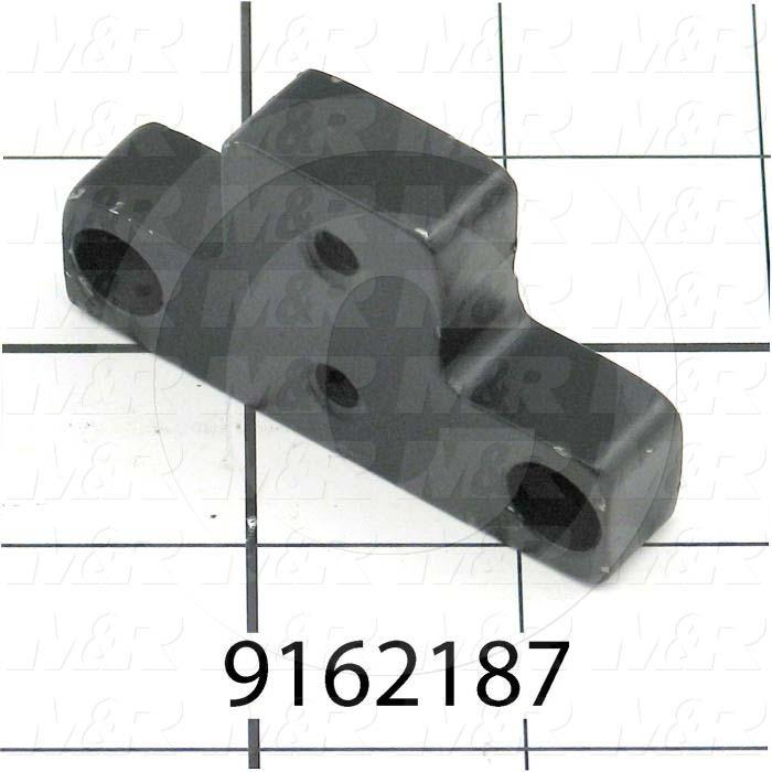 "Fabricated Parts, Spacer 2.5"" Sp-Db, 2.50 in. Length, 1.50 in. Width, 0.50 in. Thickness, Painted Black Finish"