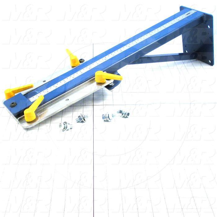 Fabricated Parts, Spider Arm Assembly, 23.94 in. Length, 5.50 in. Height, 6.13 in. Diameter