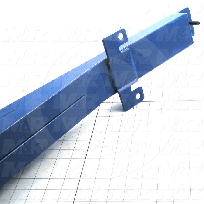 Fabricated Parts, Spider Arm Machined, 63.37 in. Length, 6.50 in. Width, 12.00 in. Height, Painted Blue Finish