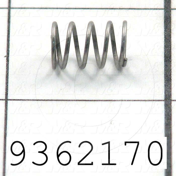 Fabricated Parts, Spring, 0.47 in. Length, 0.30 in. Diameter