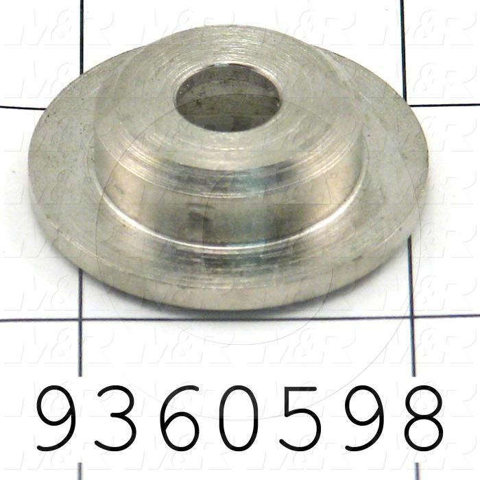 Fabricated Parts, Spring Top Flat, 0.37 in. Length, 1.25 in. Diameter
