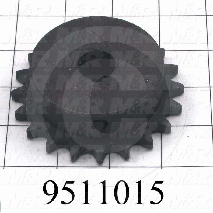 Fabricated Parts, Sprocket, 0.75 in. Length