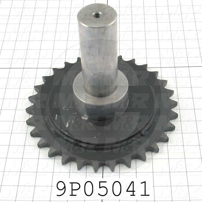 Fabricated Parts, Sprocket Drive Shaft, 8.00 in. Length, 10.13 in. Diameter, Rear