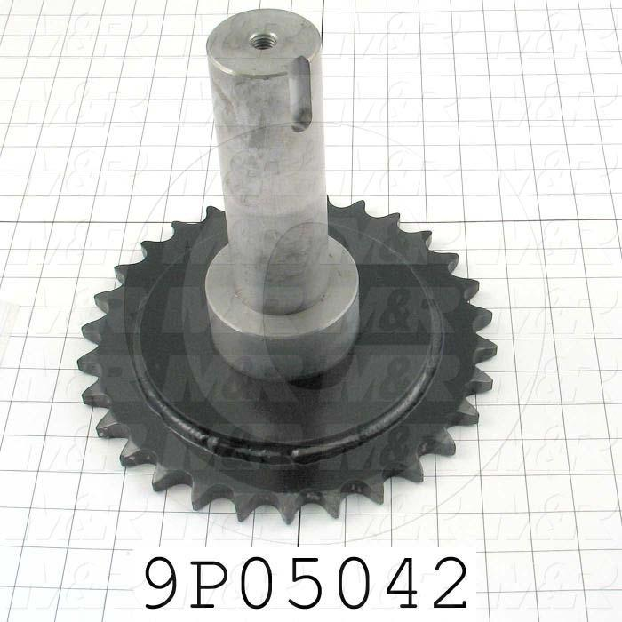 Fabricated Parts, Sprocket Drive Shaft, 9.25 in. Length, 10.13 in. Diameter, Front