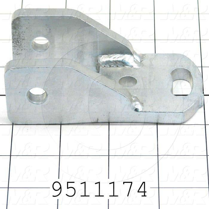 Fabricated Parts, Sq Bar Mtg Brkt R.H, 4.11 in. Length, 1.50 in. Width