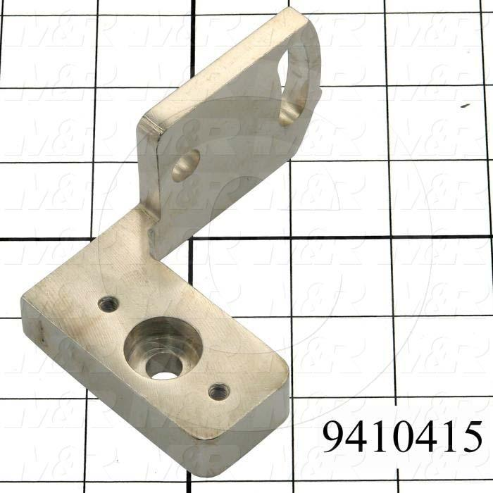 Fabricated Parts, Square Bar Mounting Bracket, 3.94 in. Length, 1.88 in. Width, 2.25 in. Height, Left Side