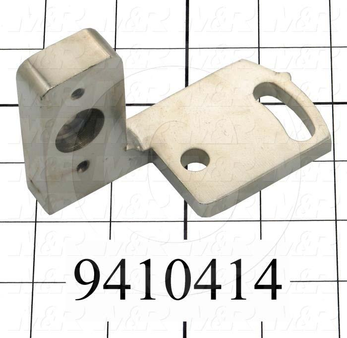 Fabricated Parts, Square Bar Mounting Bracket, 3.94 in. Length, 1.88 in. Width, 2.25 in. Height, Right Side