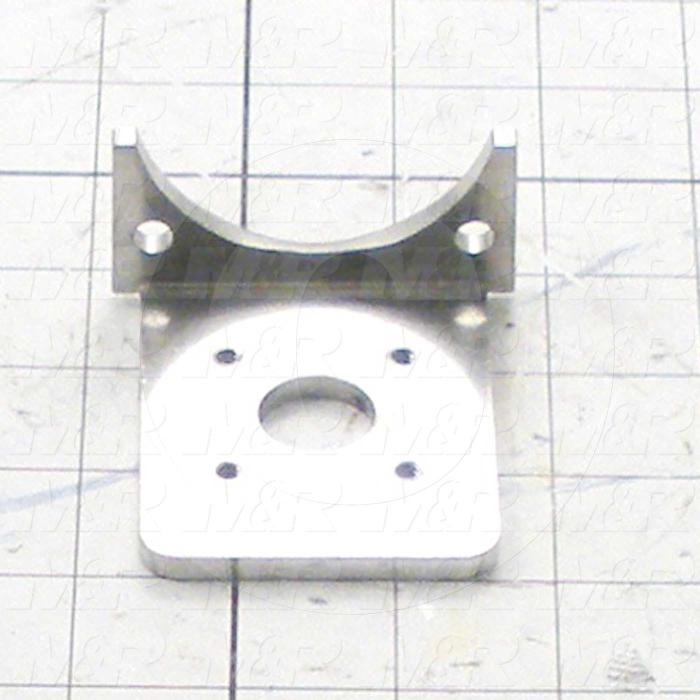 Fabricated Parts, Square Cylinder Mtg Brkt, 2.88 in. Length, 2.63 in. Width, 1.31 in. Height, 7 GA Thickness, As Material Finish