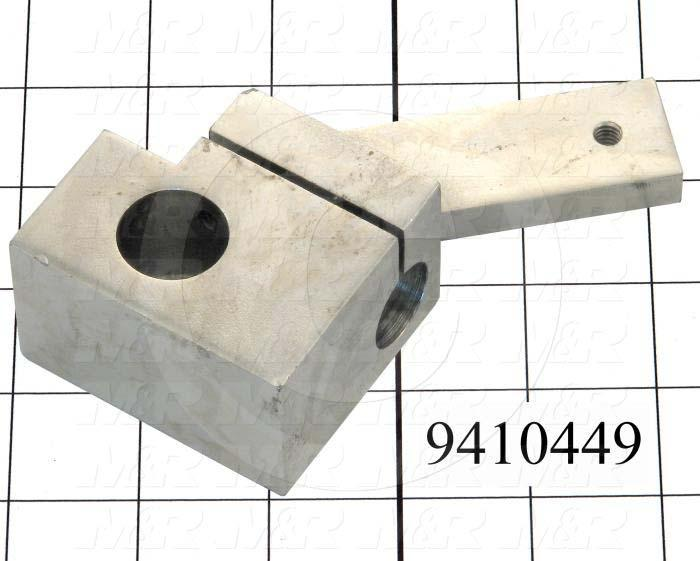 Fabricated Parts, Square Holder Bracket Weldment, 4.58 in. Length, 3.73 in. Width, 1.50 in. Height, Left Side