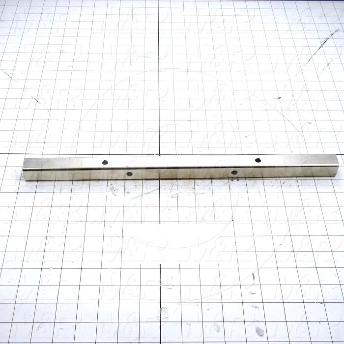 Fabricated Parts, Squeegee Flood Bar Mounting Tube, 18.00 in. Length, 1.00 in. Width, 1.00 in. Height