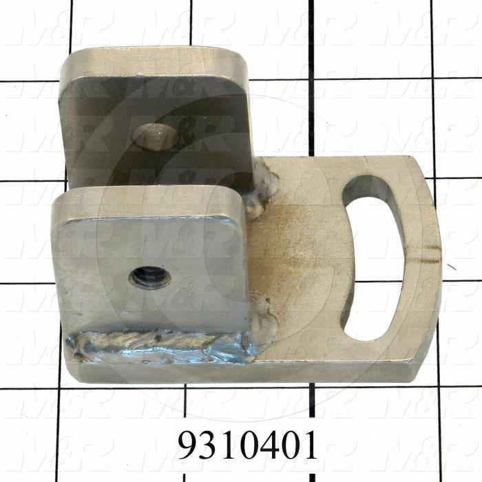 Fabricated Parts, Squeegee Holder Bracket, 3.00 in. Length, 2.00 in. Width, 2.00 in. Height