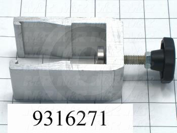 Fabricated Parts, Squeegee Manual Clamp Assembly, 4.00 in. Length, 2.38 in. Width, 2.00 in. Height