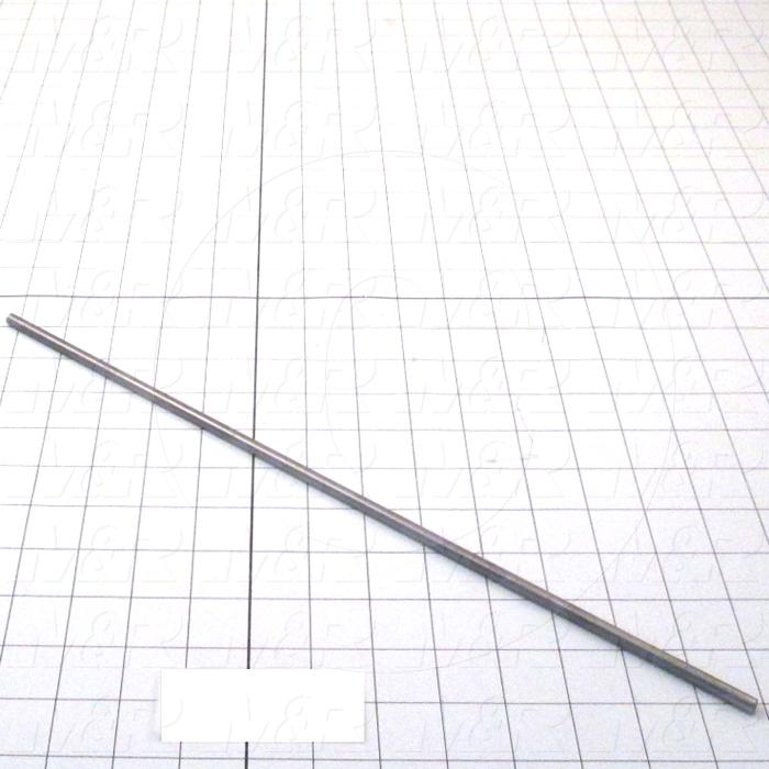 "Fabricated Parts, Squeegee Pin 16"", 16.00 in. Length, 0.25 in. Diameter, As Material Finish"