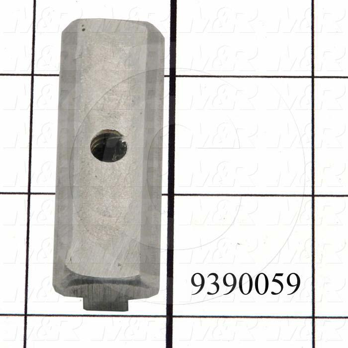 Fabricated Parts, Stop Plate T-Nut, 2.25 in. Length, 0.75 in. Width, 0.45 in. Height