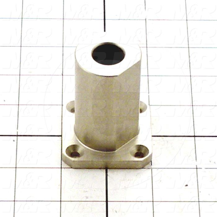 Fabricated Parts, Stroke Adjustment Base, 2.50 in. Length, 2.00 in. Width, 2.00 in. Height