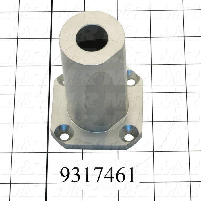 Fabricated Parts, Stroke Adjustment Base, 3.63 in. Length, 2.50 in. Width, 2.50 in. Height