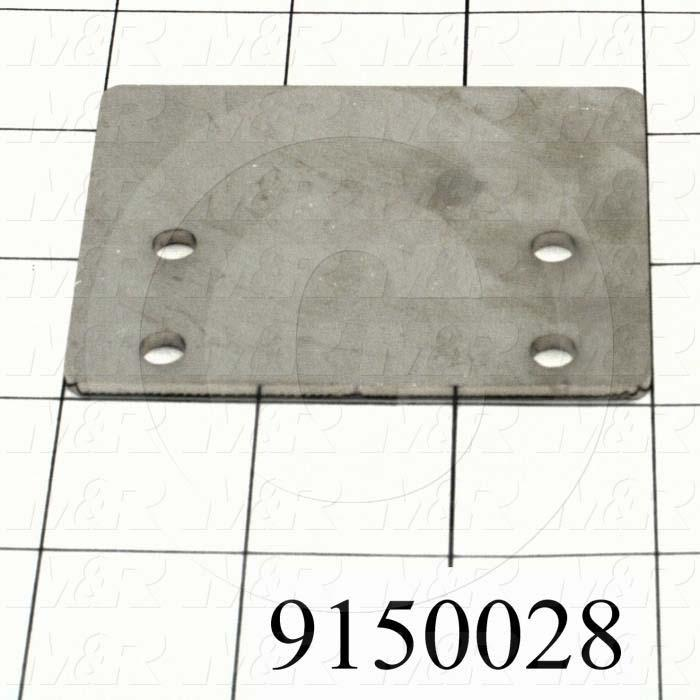 Fabricated Parts, Stroke Proximity Flag, 3.00 in. Length, 2.25 in. Width, 12 GA Thickness