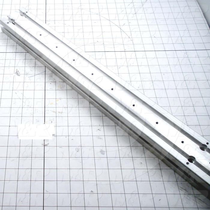 "Fabricated Parts, Support Beam Extr 45"", 45.00 in. Length, 3.15 in. Width, 1.57 in. Height"