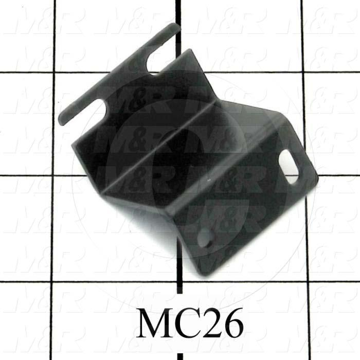 Fabricated Parts, Switch Bracket, 1.50 in. Length, 1.313 in. Width, 1.00 in. Height, 18 GA Thickness, Black Powder Coat Finish