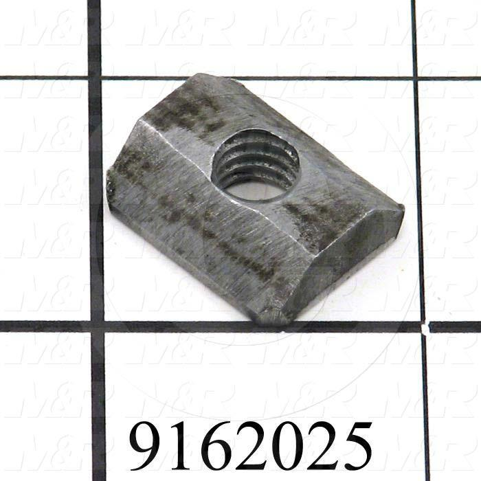 Fabricated Parts, T-Nut, 0.75 in. Length, 0.63 in. Width, 0.25 in. Thickness