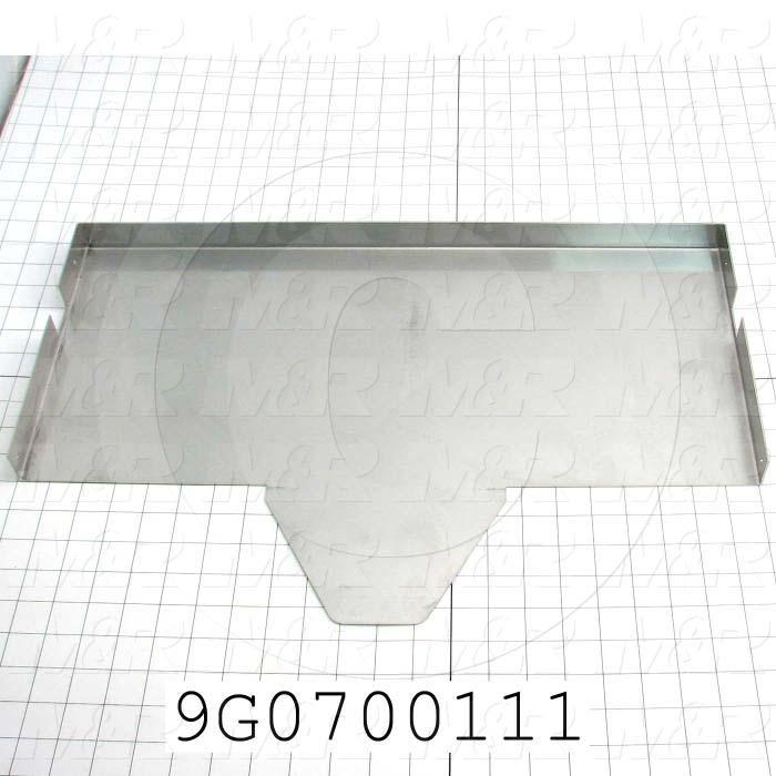 Fabricated Parts, Table, 22.06 in. Length, 14.15 in. Width, 1.25 in. Height, 16 GA Thickness, Polish Stainless Finish
