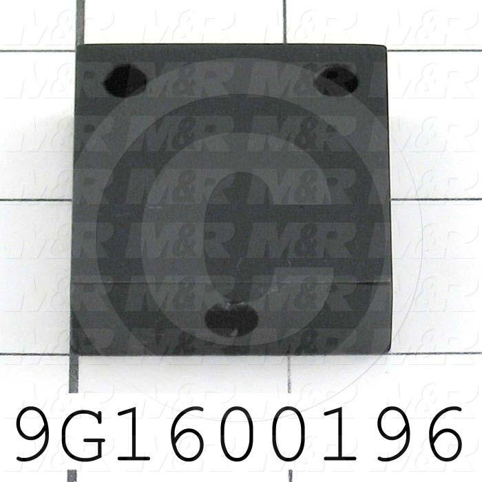 Fabricated Parts, Table Cylinder Bracket, 1.56 in. Length, 1.50 in. Width, 0.50 in. Thickness, Black Anodized Finish