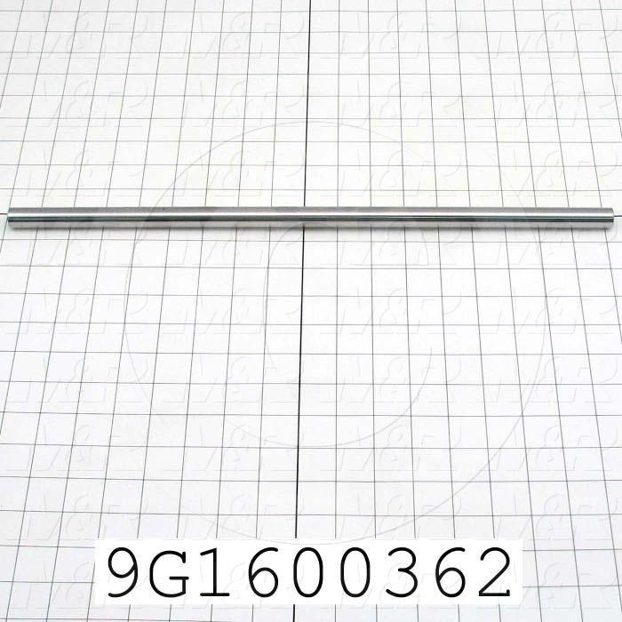 Fabricated Parts, Table Slide Shaft, 18.00 in. Length, 0.625 in. Diameter, Plain Finish