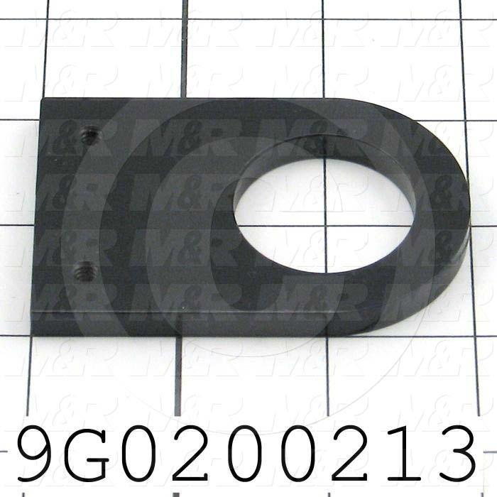 Fabricated Parts, Table Touch Bottom Mount, 3.00 in. Length, 2.00 in. Width, 0.25 in. Thickness, OC50000 Black Anodizing Finish