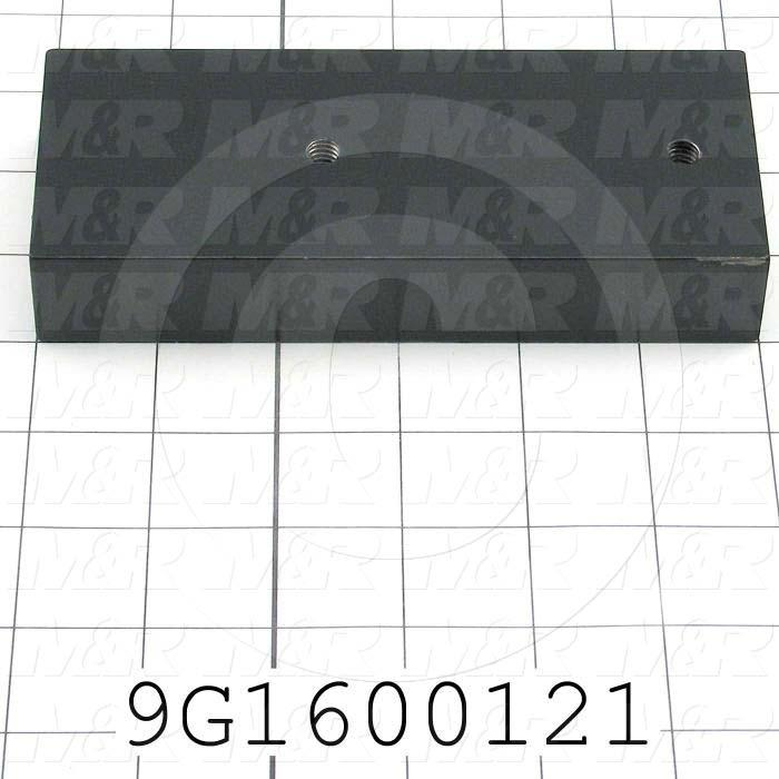 Fabricated Parts, Table Upright Brkt, 6.00 in. Length, 2.50 in. Width, 1.00 in. Thickness