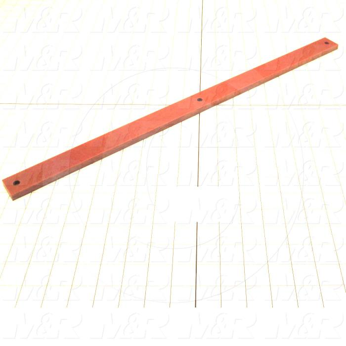 "Fabricated Parts, Tacana Bottom Spacer 23"", 23.00 in. Length, 1.25 in. Width, 0.375 in. Thickness"