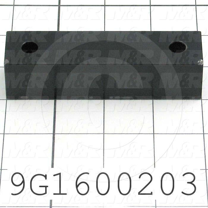 Fabricated Parts, Take Up Guide Block, 4.00 in. Length, 1.00 in. Width, 1.00 in. Thickness, Semi-Gloss Black Finish